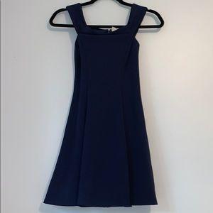 Dresses & Skirts - Off the shoulder Navy Blue Zip Up dress